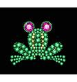 Gem frog vector
