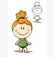 Little funny girl vector