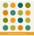 Set of circle labels vector