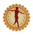 Sport emblem jumping vector