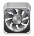 Icon for computer cooler vector
