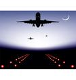 Landing plane vector
