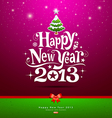 Happy new year 2013 lettering greeting card vector