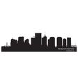 Richmond virginia skyline detailed city silhouette vector