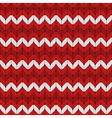 Seamless red and white knitted pattern vector