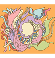 Hand drawn abstract design with place for your tex vector