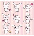 Cartoon cute rabbit character vector