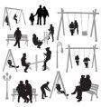 Park silhouettes vector