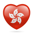 Heart icon of hong kong vector
