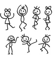 Cartoon dancing people isolated on white vector