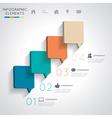 Modern speech bubble infographics vector