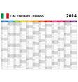 Calendar 2014 italy type 12 vector
