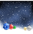Christmas bauble night background vector