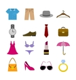 Collection of clothes accessories vector
