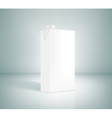 White box of juice on a gray background vector