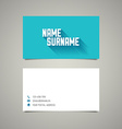 Modern simple business card template with long vector