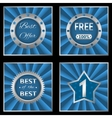 Blue silver labels vector