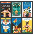 Circus retro posters vector
