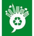 Buildings recycle vector