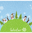 Winter square background vector