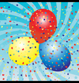 Balloons celebration vector