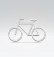 Silver bike icon over white vector