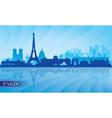 Paris city skyline silhouette background vector