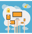 Byod concept bring your own device security vector