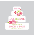 Wedding cake invitation - save the date vector