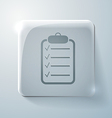 Sheet of paper glass square icon vector