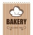 Bakery design over beige background vector