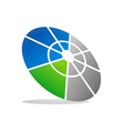 Round target business technology logo vector