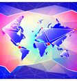 World map abstract background vector