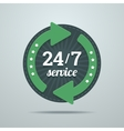 24 7 hours service sign in flat style vector