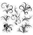 Set of flower pattern tattoo vector