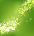 Spring abstract with fresh green leaves vector