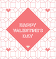Happy valentines day vintage card with abstract vector