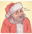 Sketch santa claus in vintage style vector
