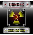 Set symbols radioactive danger vector