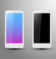 Realistic of a white smartphone vector
