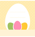 Yellow blank dotted easter background with eggs vector