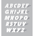 Cardboard or paper font type alphabet vector