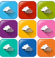 Weather forecast buttons vector