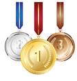 Golden silver and bronze medal3 vector