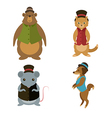 Animals with hats vector