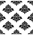 Seamless black and white damask style pattern vector