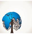 Creative blu map tree vector