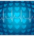 Heart beat background vector