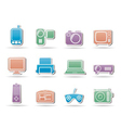 Electronic appliances icons vector