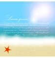 Beautiful summer background with beach sea sun and vector